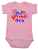 My First Fourth baby Bodysuit, My First 4th baby onsie, 4th of July, Independence day infant bodysuit, Patriotic baby, pink