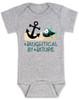 Naughtycal by nature baby Bodysuit, Naughty by nature baby, Ocean baby bodysuit, nature baby onsie, Nautical baby gift, funny fish baby Bodysuit, grey