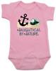 Naughtycal by nature baby Bodysuit, Naughty by nature baby, Ocean baby bodysuit, nature baby onsie, Nautical baby gift, funny fish baby Bodysuit, pink