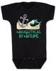 Naughtycal by nature baby Bodysuit, Naughty by nature baby, Ocean baby bodysuit, nature baby onsie, Nautical baby gift, funny fish baby Bodysuit, black