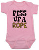 Piss up a rope baby Bodysuit, Ween baby Bodysuit, baby bodysuit with Ween lyrics, baby gift for ween fans, pink