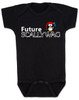 Future Scallywag baby Bodysuit, future personalized baby Bodysuit, future pirate, custom pirate baby gift, Little Scallywag, baby gift for pirate parents, black