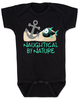 Naughtycal by nature gift box, nautical baby gift set, naughty by nature baby, Nautical baby shower, ocean baby gift, crochet shark hat, shark baby hat, ocean lover parents, black nautical baby onesie
