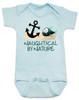 Naughtycal by nature gift box, nautical baby gift set, naughty by nature baby, Nautical baby shower, ocean baby gift, crochet shark hat, shark baby hat, ocean lover parents, blue nautical baby onesie
