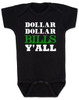 Wu-tang baby Bodysuit, money baby Bodysuit, dollar dollar bills ya'll, future money maker, hip hop baby Bodysuit, black