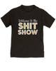 Welcome to the shit show toddler shirt, shit show kid shirt, parenting is a shit show, funny toddler shirt, black