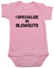 blowout specialist baby bodysuit, i specialize in blowouts, stylist baby gift, hair stylist baby, funny hair baby bodysuit, poop joke baby bodysuit, diaper blowout baby, future hair stylist baby, pink