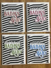 greeting card, handmade card, cool new parents, funny greeting card for baby, greeting card for baby gift, badass baby, funny baby cards, damn that's one badass baby, badass greeting cards, all 4 colors