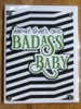 greeting card, handmade card, cool new parents, funny greeting card for baby, greeting card for baby gift, badass baby, funny baby cards, damn that's one badass baby, badass greeting cards, green