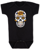 Dia de los Muertos baby Bodysuit, Yellow Rose skull, sugar skull Bodysuit, Day of the dead baby Bodysuit, Halloween baby Bodysuit, sugar skull halloween baby, black