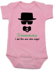 Breaking Bad Baby Bodysuit, HeisenBaby, I am the one who naps, Heisenburg, Badass baby, Breaking Dad, pink