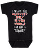 Tribute baby bodysuit, greatest baby in the world, tenacious d baby, rock and roll tribute, I'm just a tribute, this is not the greatest song in the world, this is just a tribute, black