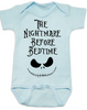 Nightmare before bedtime baby Bodysuit, funny christmas baby clothes, nightmare before christmas, jack the pumpkin king, blue
