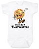 Don't be a Twatwaffle, punny baby bodysuit, offensive baby clothes, funny baby gift, cute waffle with face, twatwaffle cartoon, twat waffle gift, rude baby, badass baby