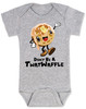 Don't be a Twatwaffle, punny baby bodysuit, offensive baby clothes, funny baby gift, cute waffle with face, twatwaffle cartoon, twat waffle gift, rude baby, badass baby, grey