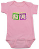 FU blocks baby Bodysuit, F you baby onsie, wooden blocks, rude blocks, offensive infant bodysuit, F bomb baby clothes, funny baby gift, pink