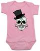 Dia de los Muertos baby Bodysuit, top hat skull, sugar skull Bodysuit, Day of the dead baby Bodysuit, Halloween baby Bodysuit, sugar skull halloween baby, pink