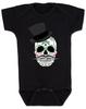 Dia de los Muertos baby Bodysuit, top hat skull, sugar skull Bodysuit, Day of the dead baby Bodysuit, Halloween baby Bodysuit, sugar skull halloween baby, black