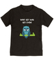 Don't get mad get even, Mad toddler shirt, badass baby, cool kids t-shirt, I don't get mad, I get even toddler shirt, trouble maker kid, tough guy, mean owl toddler shirt, cool toddler shirt with owl, black
