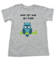 Don't get mad get even, Mad toddler shirt, badass baby, cool kids t-shirt, I don't get mad, I get even toddler shirt, trouble maker kid, tough guy, mean owl toddler shirt, cool toddler shirt with owl, grey