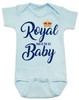 Royal baby bodysuit, royal pain in the ass, funny royal baby, baby gift for royalty, Royal Family baby joke, Funny British baby, Royal crown baby bodysuit, blue