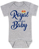 Royal baby bodysuit, royal pain in the ass, funny royal baby, baby gift for royalty, Royal Family baby joke, Funny British baby, Royal crown baby bodysuit, grey