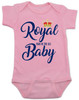 Royal baby bodysuit, royal pain in the ass, funny royal baby, baby gift for royalty, Royal Family baby joke, Funny British baby, Royal crown baby bodysuit, pink