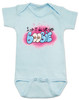 I did it all for the boobie, I did it all for the nookie, funny breastfeeding baby onesie, boobie baby bodysuit, Limp Bizkit baby bodysuit, graffiti baby onesie, old school music reference baby gift, I did it for the boobies, spray paint art baby gift, blue