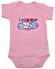 I did it all for the boobie, I did it all for the nookie, funny breastfeeding baby onesie, boobie baby bodysuit, Limp Bizkit baby bodysuit, graffiti baby onesie, old school music reference baby gift, I did it for the boobies, spray paint art baby gift, pink