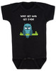 Don't get mad get even, Mad baby, badass baby, cool kids, I don't get mad, I get even baby bodysuit, trouble maker baby, tough guy, mean owl baby bodysuit, cool baby clothes with owl, black