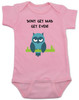 Don't get mad get even, Mad baby, badass baby, cool kids, I don't get mad, I get even baby bodysuit, trouble maker baby, tough guy, mean owl baby bodysuit, cool baby clothes with owl, pink