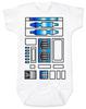 Star Wars R2D2 Baby Bodysuit, droid baby