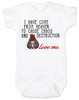 Sent from Heaven to cause Chaos and Destruction, future troublemaker, crazy baby bodysuit, funny bodysuit for new parents, wild child, mischievous baby, kid chaos, destructive toddler,  funny baby gift, white