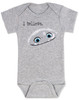 Abominable snowman bodysuit, i believe in abominable snowman, i believe in yeti, yeti baby bodysuit, cute abominable snowman baby, abominable movie, grey