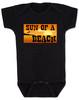 Sun of a beach, son of a beach, SOB baby bodysuit, beach baby, ocean lover parents, ocean baby bodysuit, summertime baby gift, fun in the sun baby, sunset baby, dark