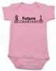 Future Big Game Hunter Baby Bodysuit, Personalize future hunter baby onsie, hunting with dad, deer hunting, camo baby, born to hunt, pink