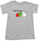 I believe in ghosts, cute ghost toddler shirt, supernatural toddler, ghost halloween toddler shirt, ghost kid shirt, grey