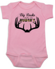 Big Racks make me hungry baby Bodysuit, funny Hunting baby onsie, funny breastfeeding Bodysuit, baby hunter, daddy's future hunting buddy, deer horns, camo baby bodysuit, pink