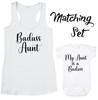Badass Aunt tank top, badass auntie shirt, My Aunt is a Badass Bodysuit, new Aunt matching set, Badass Aunt, Baby Shower Gift, matching set, baby shower gift for new aunt, cool aunt