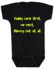 funny joke, baby gift for dad, bad joke baby bodysuit, black