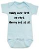 funny joke, baby gift for dad, bad joke baby bodysuit, blue