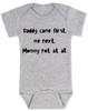 funny joke, baby gift for dad, bad joke baby bodysuit, grey