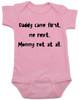 funny joke, baby gift for dad, bad joke baby bodysuit, pink