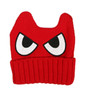 cool kids winter hat, mad eyes hat for toddlers, angry face knit hat, Red character hat for kids, kids hat with eyes and ears, monster hat for toddlers, fun beanie for kids, beanie with eyes, Red skullie for toddlers