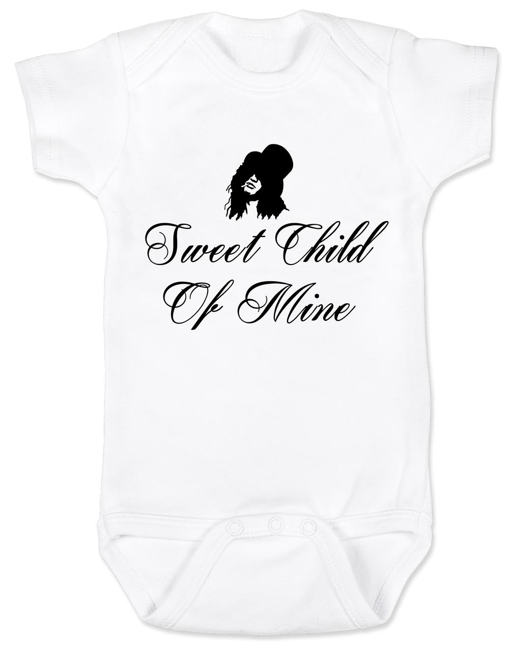 0fe8a3ec7680 Slash, Sweet Child of Mine baby Bodysuit, guns and roses band onsie