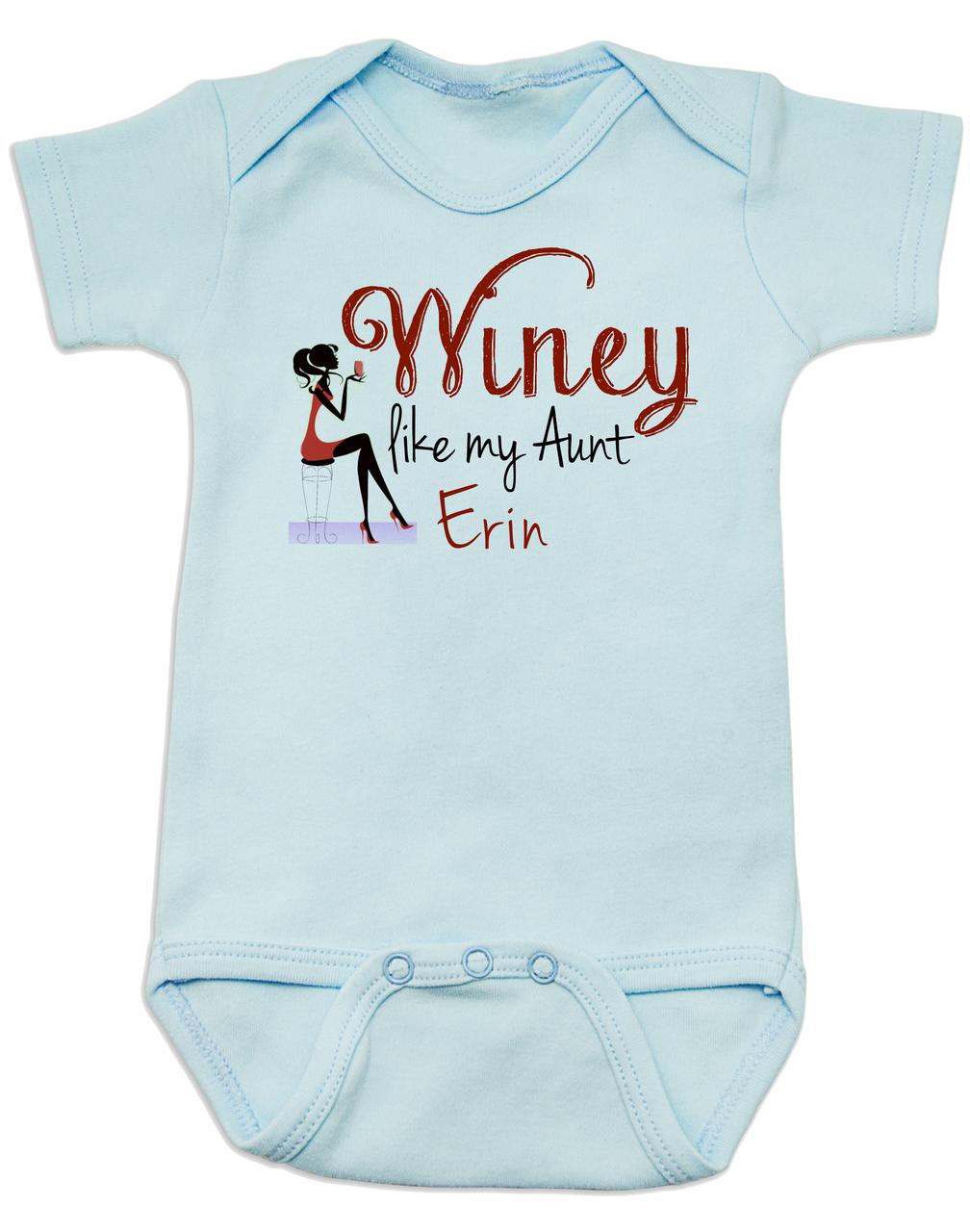 If you think Im cute Auntpersonalized custom  funny cute infant bodysuit unisex