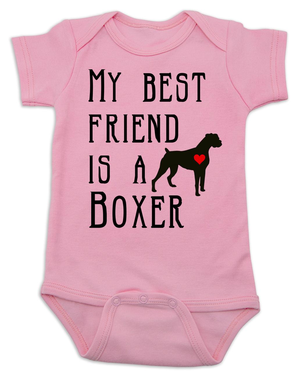 d0b76fb84 My Best Friend is a Boxer Baby Bodysuit, Boxer Puppy Love Onsie, Babies Best