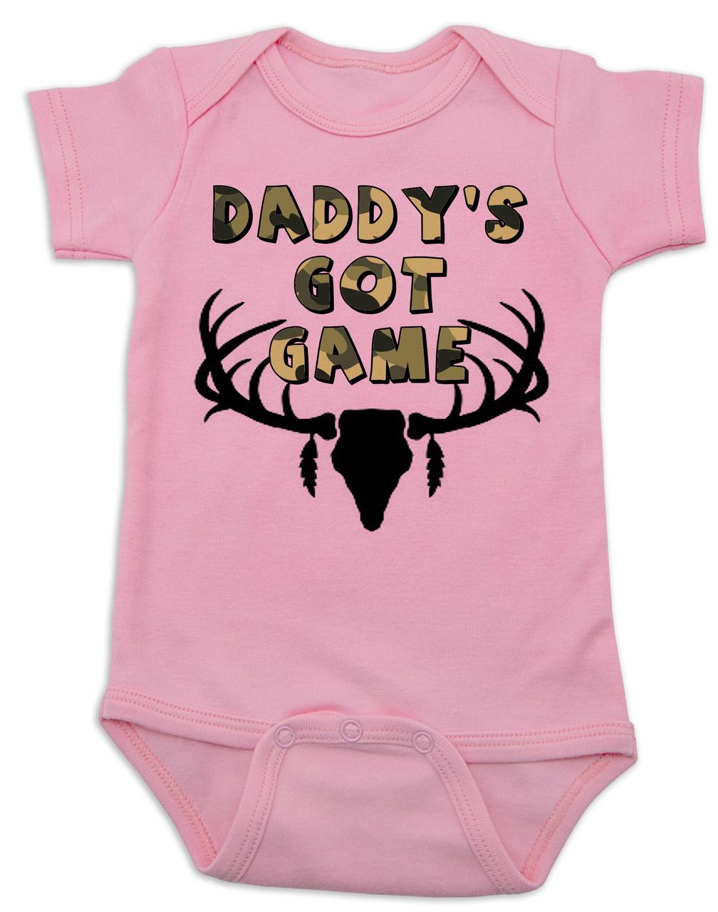 1st Fathers Day Onesie\u00ae Funny Baby Onesie\u00ae Cute Baby Onesie\u00ae Sayings Daddy/'s Little Hunting Buddy Onesie\u00ae Fathers Day Gift from Baby