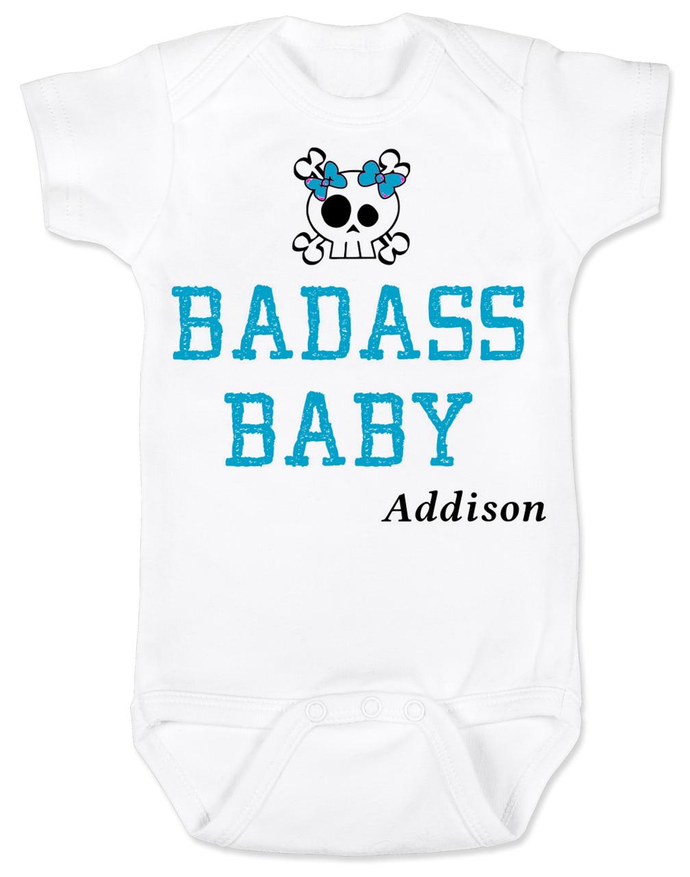 Personalized Badass Baby Bodysuit