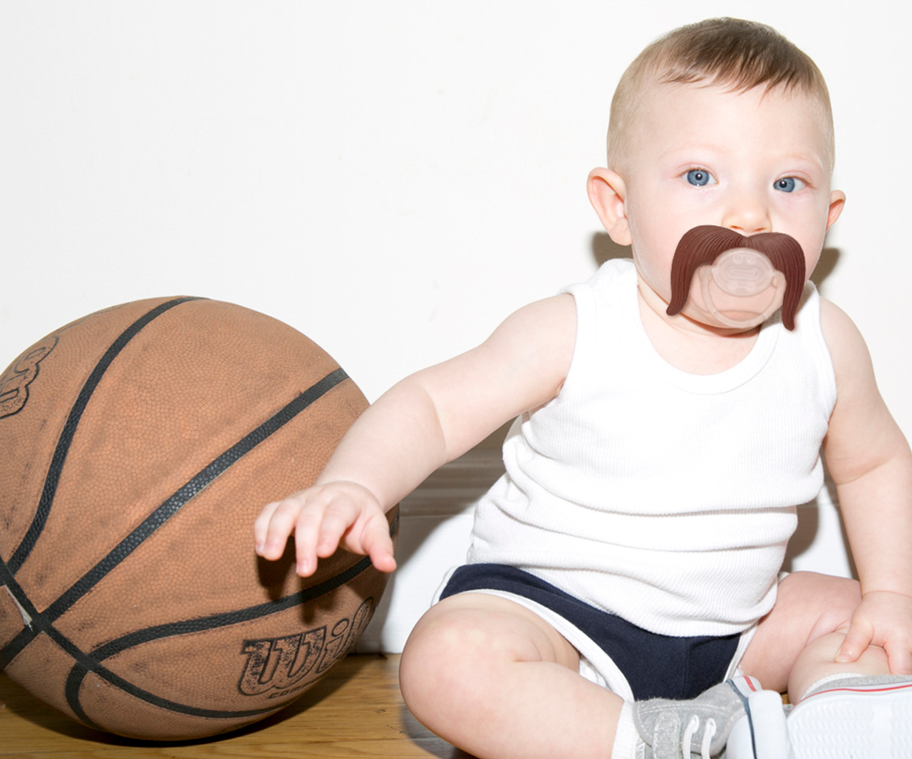 Mustachifier Mustache Pacifier Binkie Man Plug Funny Baby Silicone BPA Free